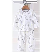 【浪比熊】秋冬季儿童保暖纯棉睡衣套装