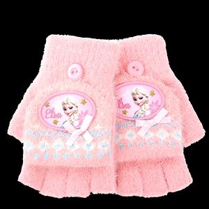 冬季女童可爱半指翻盖迪士尼手套