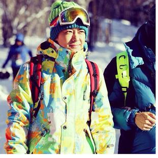 林志穎同款滑雪服套裝 男女款户外防水保暖單雙板滑雪衣褲情侶款