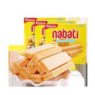 【進口】印尼麗芝士nabati納寶帝奶酪威化餅乾290g*3盒休閒零食