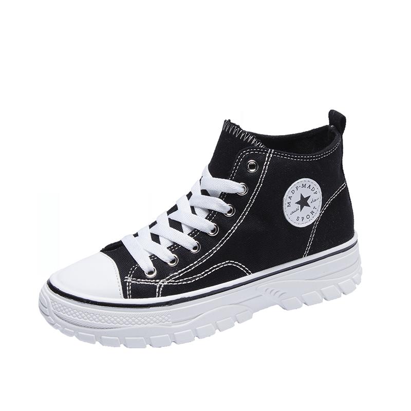 珊堡2019秋季新款韩版小白鞋女学生跑步运动休闲鞋女百搭平底板鞋
