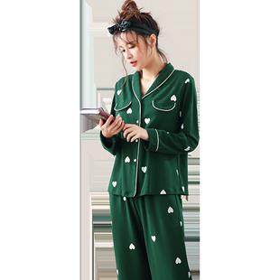 春秋季纯棉长袖韩版居家睡衣