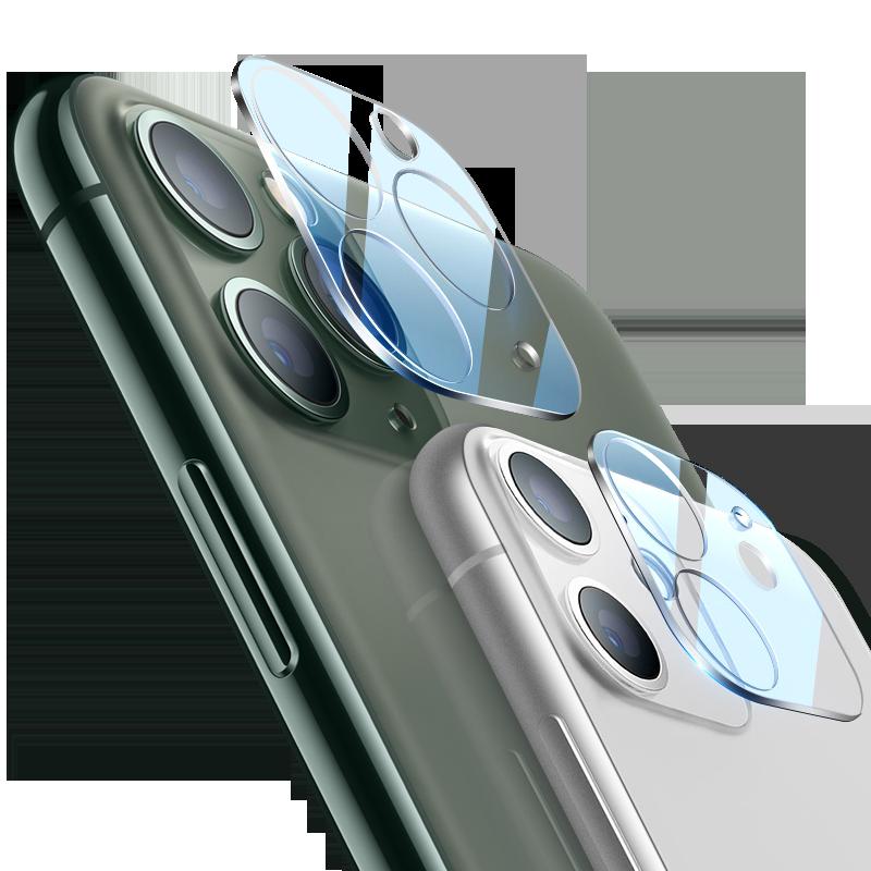 苹果11镜头膜iphone摄像头pro全屏max覆盖x贴膜xr相机保护圈8包边se2超薄7p手机xs钢化ip水凝十一plus后背膜
