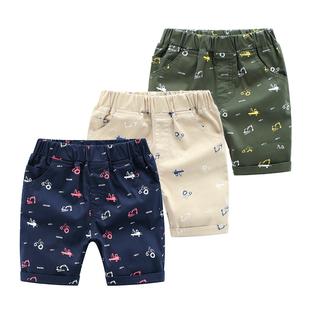 兒童短褲男童外穿夏休閒寶寶薄款印花韓版小童夏裝夏季褲子潮