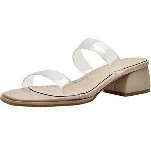 何其丑外穿2021新款夏季透明凉拖鞋