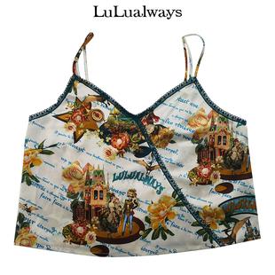 LuLualways/我愛露露 夏季性感印花背心吊帶LKB2192