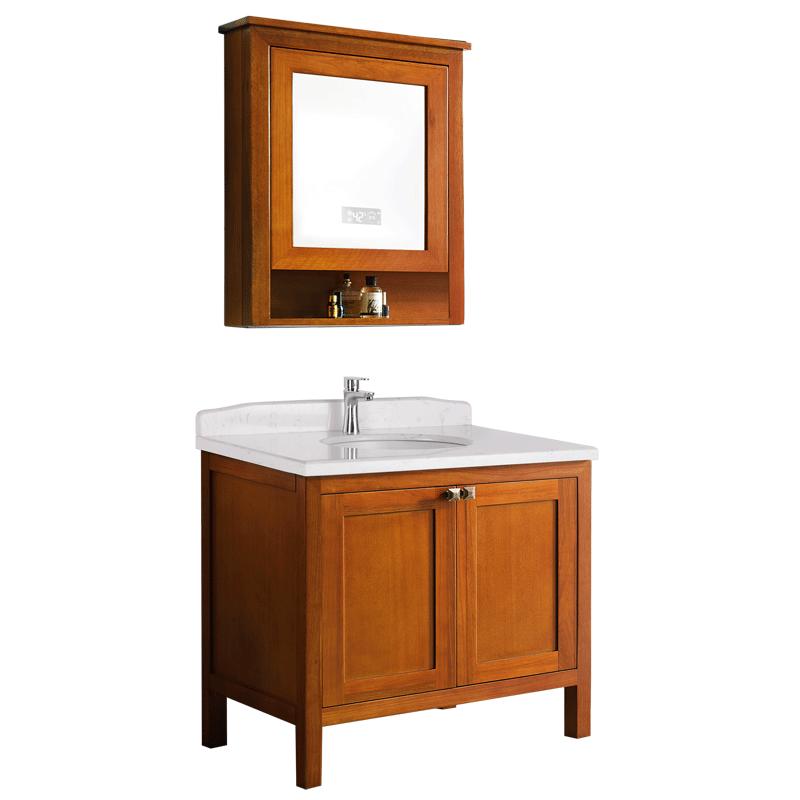 圣洛威集成浴室柜组合热水器家用隐藏式不挂墙即热储水速热热水器