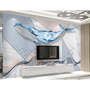 電視背景牆壁紙壁畫現代簡約客廳8d立體牆紙卧室北歐影視牆牆布