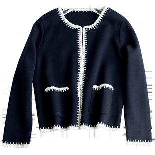 秋冬針織衫女開衫春秋季外套外搭短款上衣小香風新款洋氣毛衣氣質