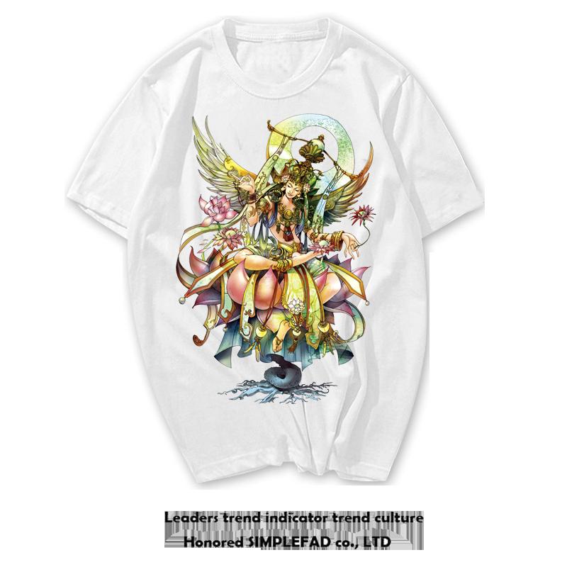 国潮浮世绘T恤日系复古泰国潮牌印花短袖纯棉休闲宽松纹身个性男