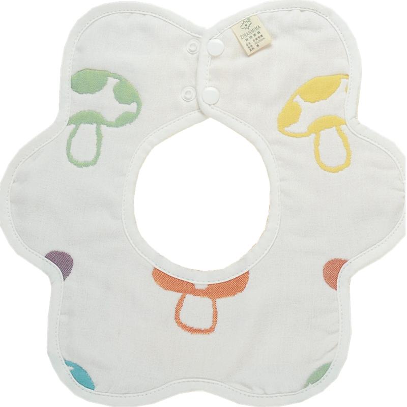 婴儿围嘴饭兜 围兜大号大童儿童 纯棉纱布 宝宝360度围脖式口水巾