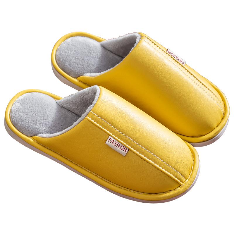 棉拖鞋女室内防水防滑pu皮男皮拖鞋质量好不好