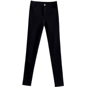 黑色弹力2021春夏季新款韩版九分裤