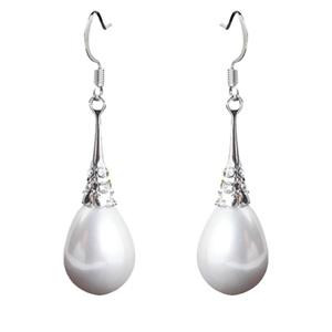 韩国水滴大珍珠吊坠仙气质装饰耳环