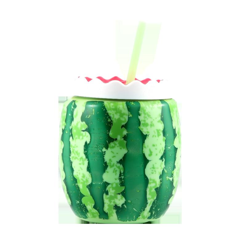 美国coolgear吸管杯网红西瓜杯少女心可爱水杯创意个性杯子果汁杯