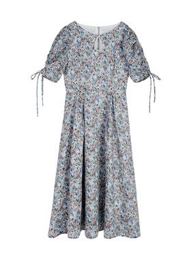 MintCheese 夏 莫奈花园 法式油画感  珍珠水滴碎花连衣裙长裙