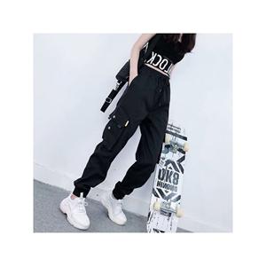 女装束脚bf学生嘻哈街舞韩版工装裤