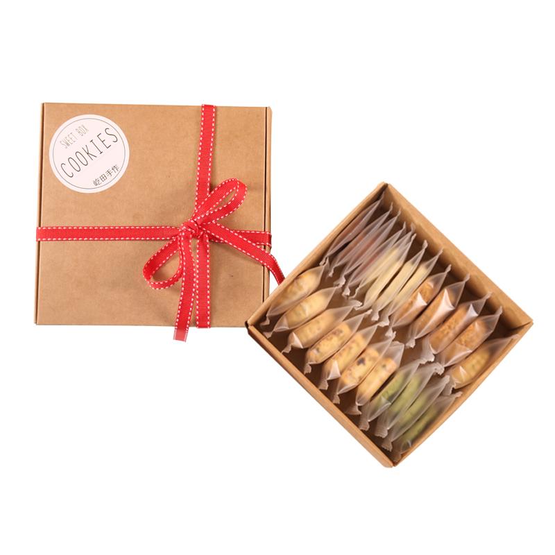 手工曲奇饼干礼盒装独立零食包装