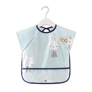 宝宝防水防脏夏季围兜短吃饭罩衣