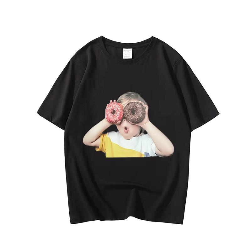 甜甜圈t恤明星同款韩国潮牌纯棉