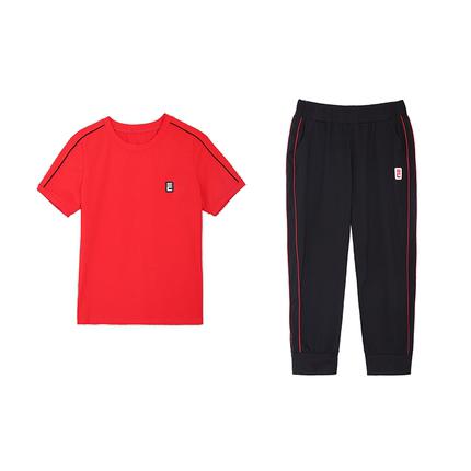 夏季休闲运动九分裤修身显瘦潮t恤