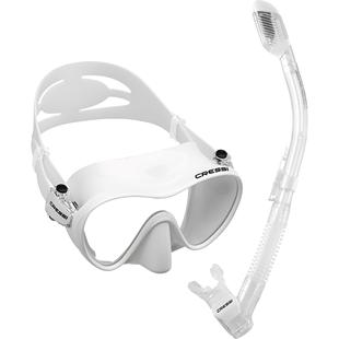 意大利CRESSI F1浮潛三寶 潛水面鏡 全乾式呼吸管 男女士面罩套裝