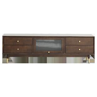 睿帆北歐實木電視櫃茶几組合現代簡約小户型電視機櫃客廳家用地櫃