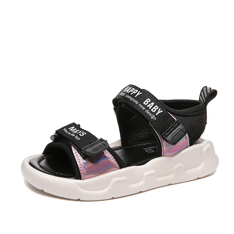 女童凉鞋2020新款夏天儿童小公主沙滩鞋中大童宝宝鞋软底男童凉鞋