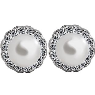 海盜船銀飾 時尚氣質小巧淡水珍珠女耳釘 韓版簡約個性銀耳環耳飾