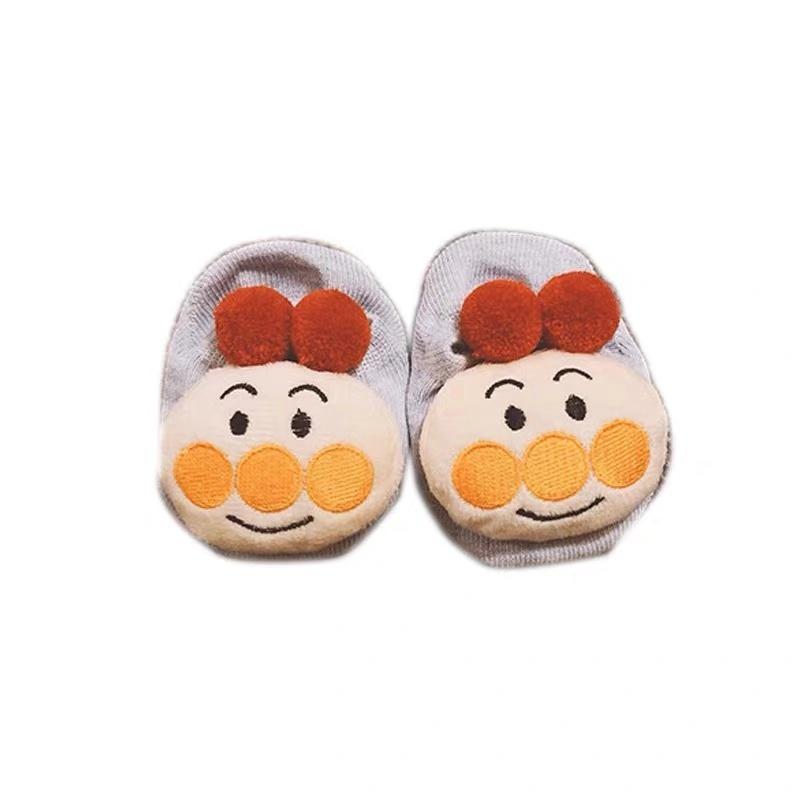 婴儿BB袜子纯棉春秋薄款宝宝防滑袜可爱婴幼儿学步地板鞋袜0~1岁