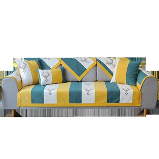 沙发垫四季雪尼尔防滑组合罩坐垫子