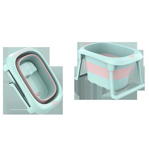 折叠沐游泳宝宝泡澡家用可躺洗澡盆