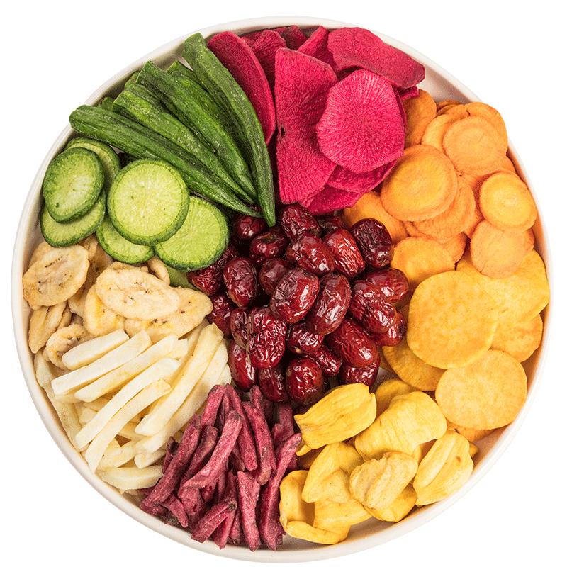 菇滋果蔬脆片脱水果即食蔬菜干零食果蔬混合装脆片综合什锦果蔬脆
