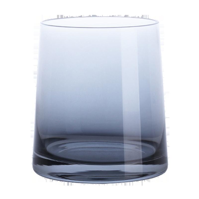 北欧ins 炫彩离子镀玻璃杯家用威士忌酒杯透明水杯饮料果汁杯子