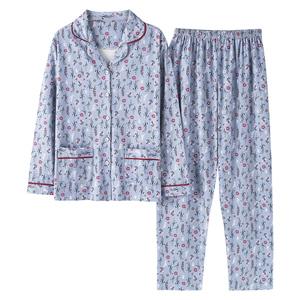 60-70-80岁纯棉中老年长袖春秋睡衣