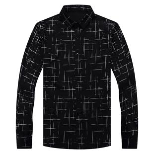 长袖冬装加绒加厚韩版潮流修身衬衫