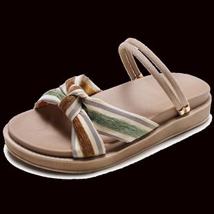 兩穿涼鞋女平底2020新款時尚仙女羅馬涼拖鞋海邊度假可下水沙灘鞋