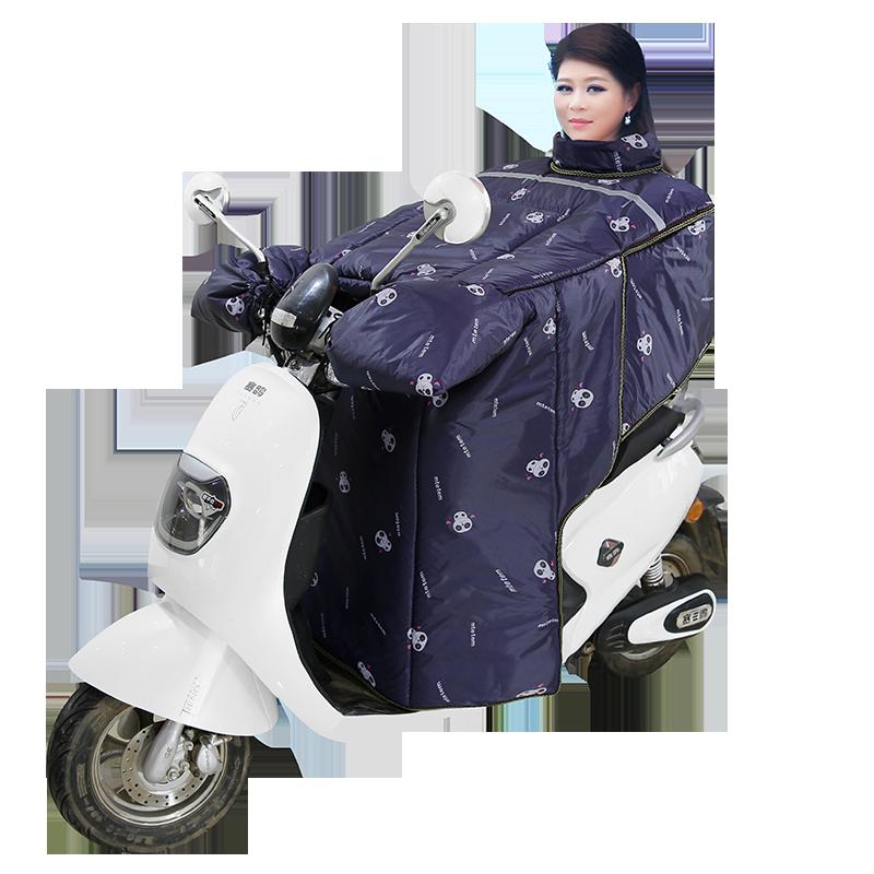 电动车挡风被冬季加绒加厚大护肩防水防寒脖护腰电瓶车摩托挡风罩