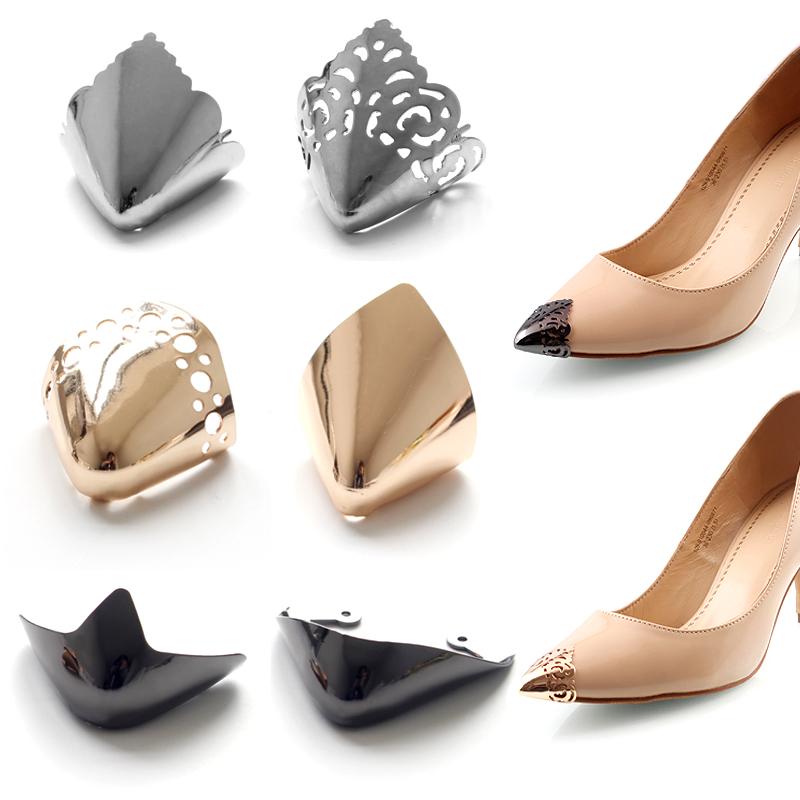 鞋头保护套尖头防踢金属防磨贴通用隐形高跟鞋修复装饰贴神器女士