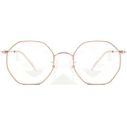 感光变色防紫外线粉色镜片女太阳镜