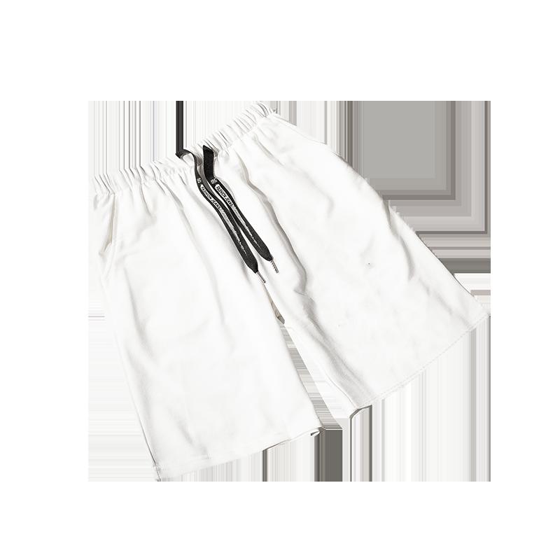夏季运动裤子韩版潮流短裤港风ins宽松直筒五分裤学生休闲裤男装