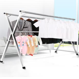 落地折叠卧室内伸缩晒被子晾衣杆