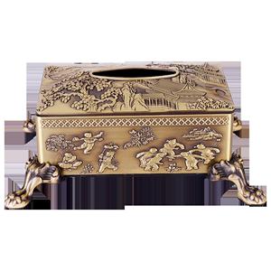 铜纯铜北欧风格轻奢风茶几纸巾盒