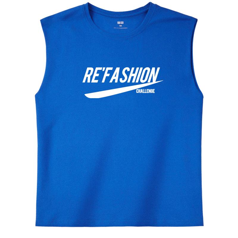 夏季背心男潮牌坎肩薄款宽松男士无袖t恤个性潮流健身运动服外穿