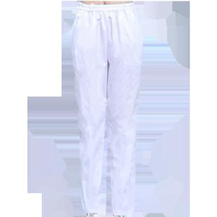 貝緹奴護士褲子女白色夏季薄款修身顯瘦鬆緊腰工作褲大碼厚護士服