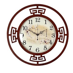 新中式掛鐘客廳鐘錶靜音中國風掛錶個性時尚創意家用裝飾簡約時鐘