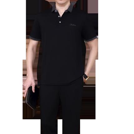 2019新款夏季男士休閑套裝裝運動服