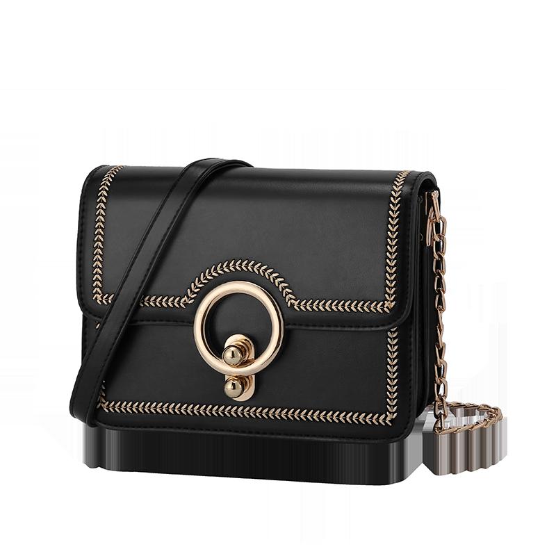 AIM包包女韩版时尚2019新款单肩斜跨包链条小方包简约小包