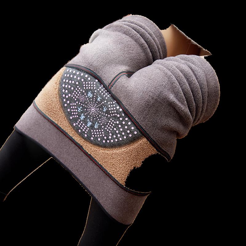 冬季负氧离子打底裤加绒加厚提臀显瘦高腰养生裤仿羊绒一体裤