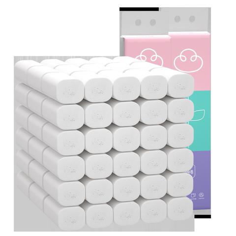 植护卫生纸家用实惠装整箱批厕所厕纸巾卷筒纸卫生间手纸卷纸无芯